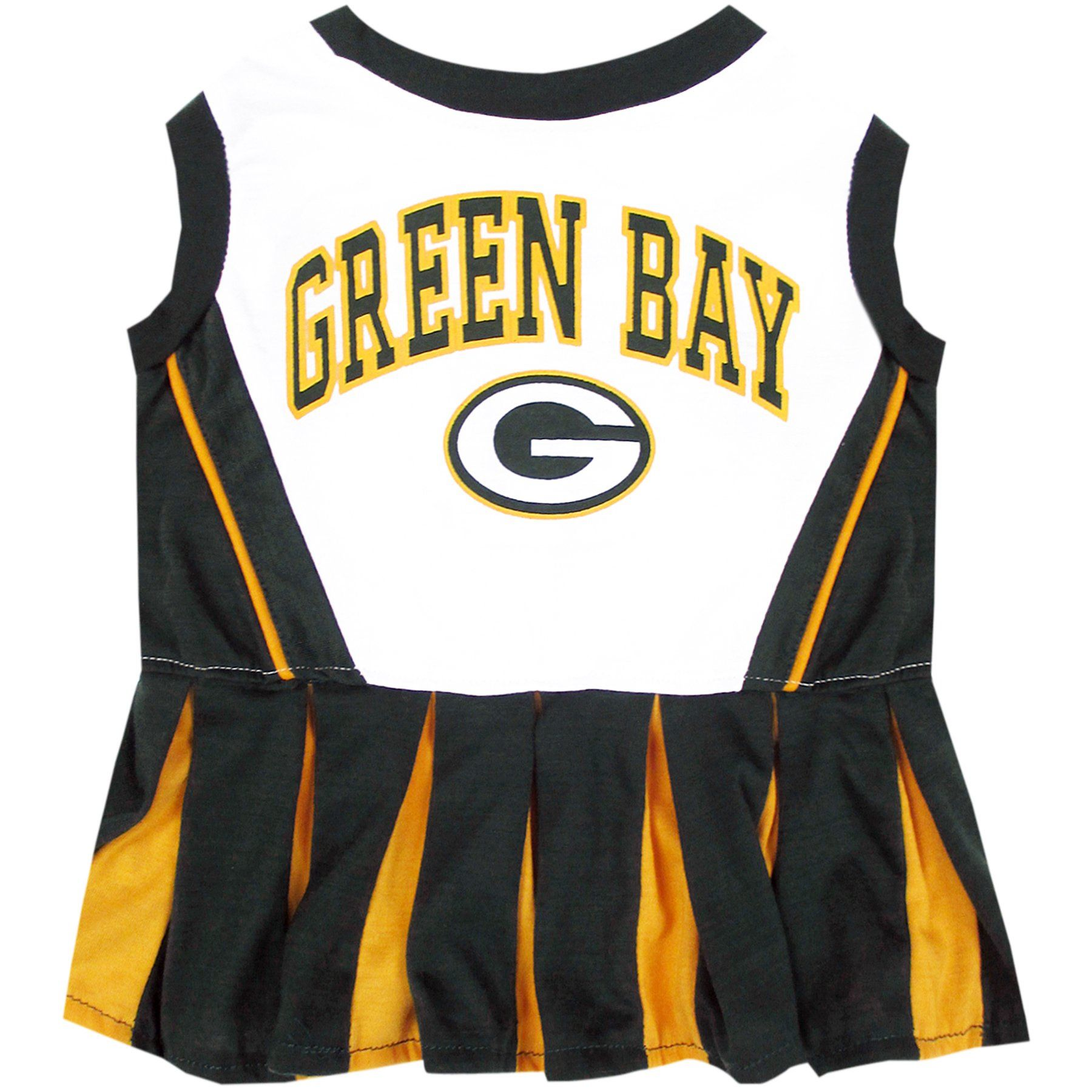 Green Bay Packers NFL Cheerleader Dress For Dogs Size