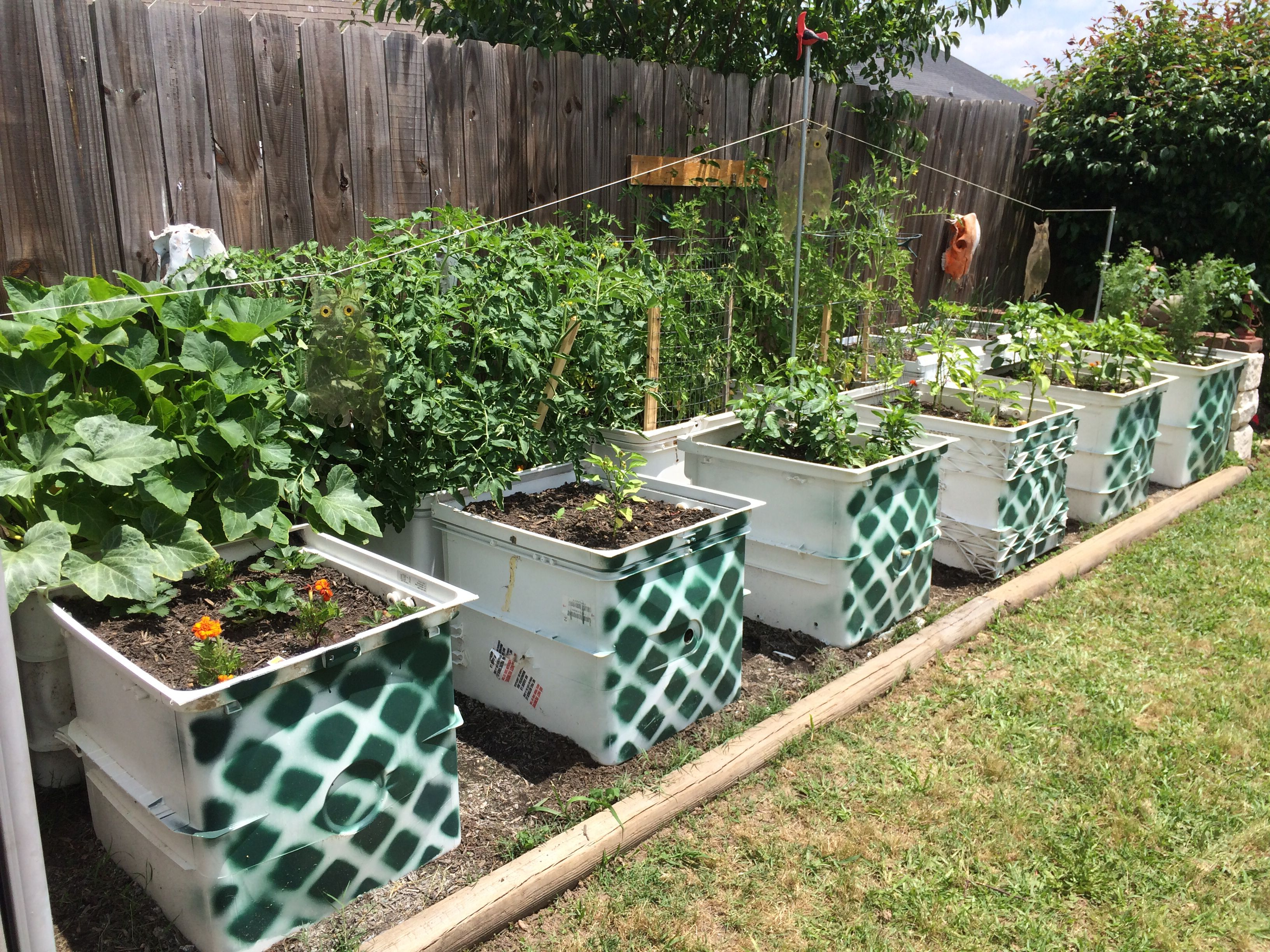 Doug S Dishwasher Garden Raised Beds Made From Discarded