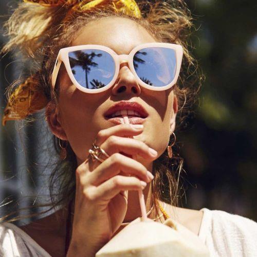 00fbf4ea61f NEW-QUAY-AUSTRALIA-Pink-Silver-034-PARADISO-034-Cat-Eye-Sunglasses-SALE