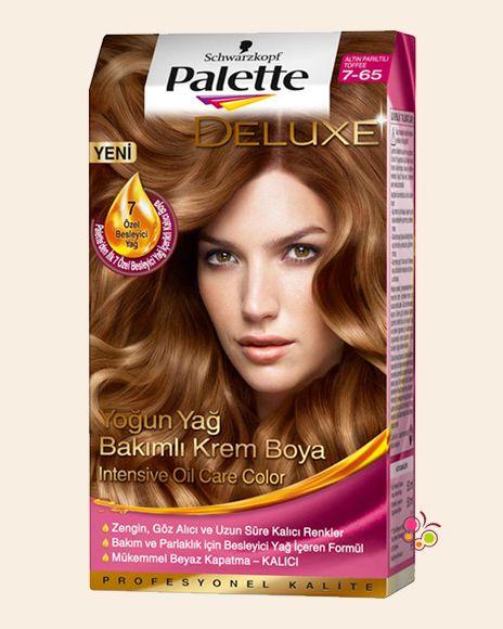 Palette Set Sac Boyasi 7 65 Altin Pariltili Toffee Boyali Sac
