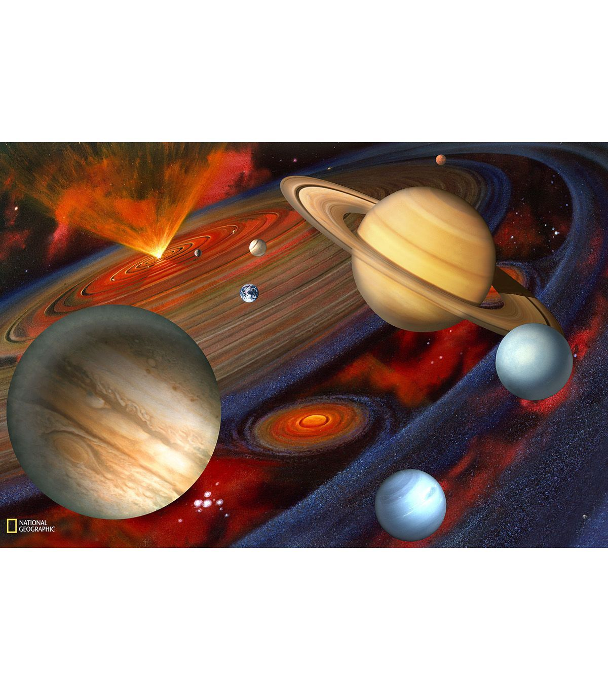 Planets Wall Mural | Wall murals, Wall decals, Planets