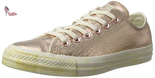 All Star Snake, Baskets Femme, Multicolore (Rosegold Metallic Reptile 0), 36.5 EUConverse