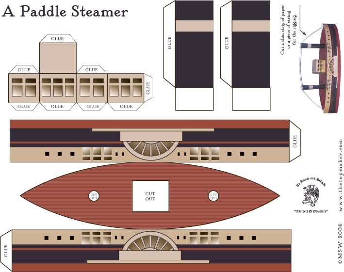 printable steam boat (plus many more free 3-D printable