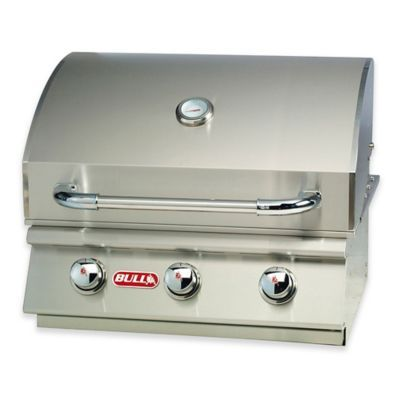 Bull Steer 3-Burner Natural Gas Drop-In Grill Head In Stainless
