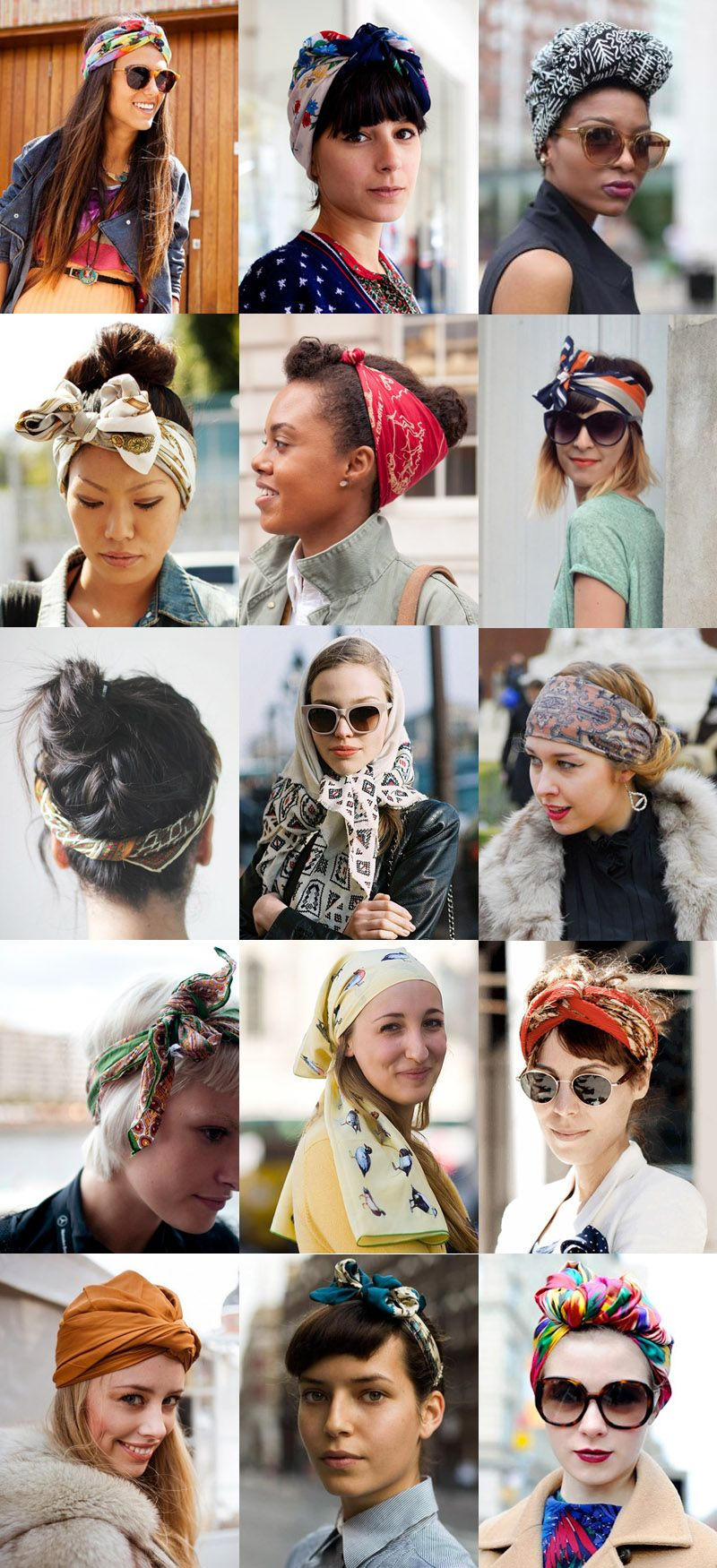 Trend Watch All Wrapped Up With Images Scarf Hairstyles