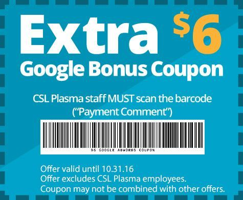 Plasma Donation Centers - CSL Plasma | plasma | Coupons