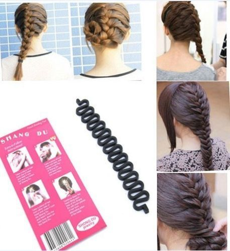 French Plait Hair Braiding Tool-Make Professional Looking French Braid instantly