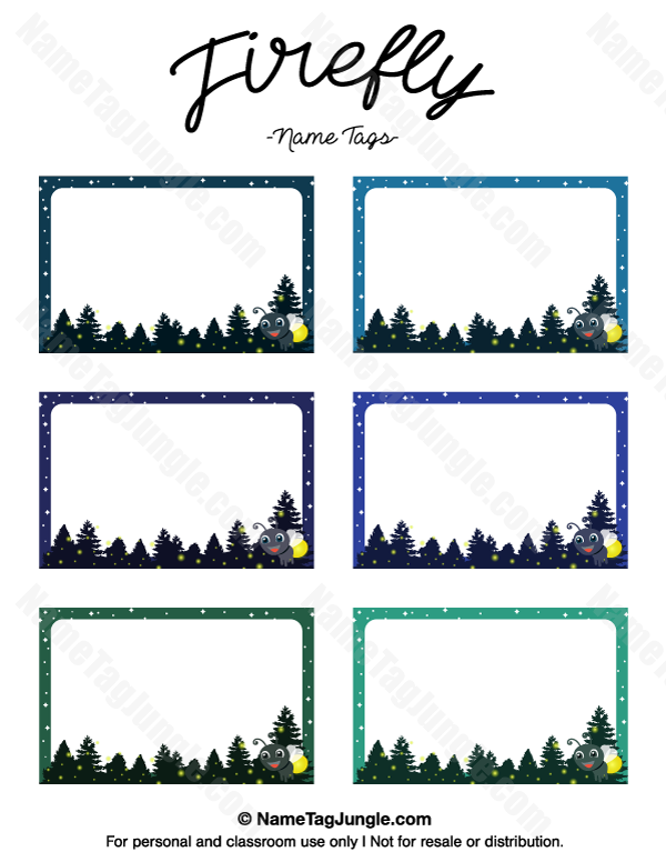 graphic relating to Firefly Template Printable called Pin via Muse Printables upon Standing Tags at