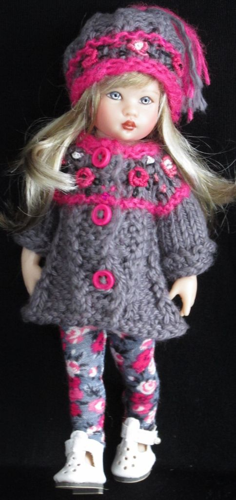 Handknit sweater set made for Helen Kish Riley,Tonner Patsyette Dolls dolls