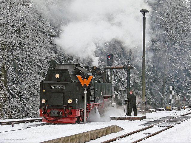 Brockenbahn - Brocken Railway   Januar 2015 Drei Annen Hohne ...
