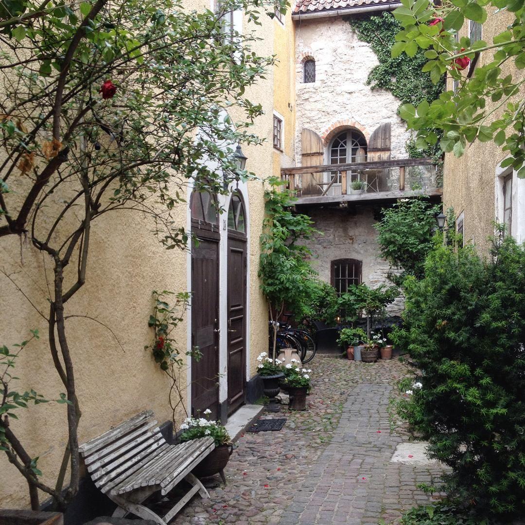 Italien?? Nej inte alls, bara en bakgård i Visby.  #visby #visbyinnerstad #gotland #backyard #historical #beautiful #loveit #romantic #nothingisordinary #visitvisby #visitsweden #oldbuildings #oldhouselove #limestone #medieval #medeltid