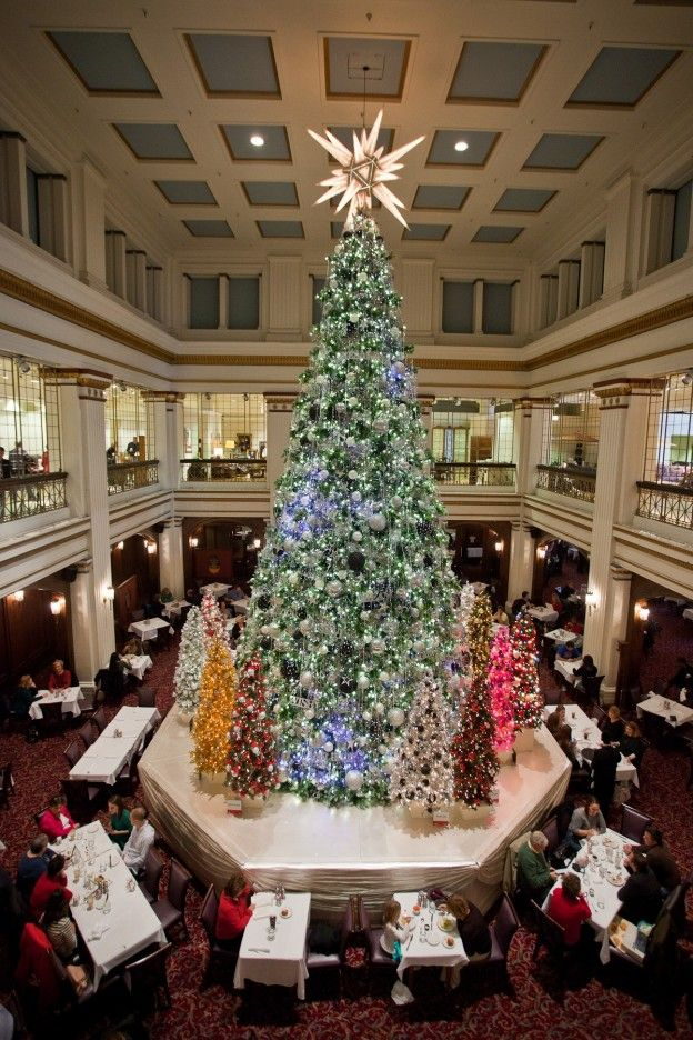 its not christmas without a trip to the walnut room in chicago to see the tree - Christmas Trees Chicago