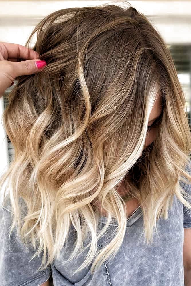 Ombre Medium Hairstyle Ombrehair Blondeombre The Best Medium Length Hairstyles For Long Thick Hair In 2020 Hair Styles Medium Length Hair Styles Medium Hair Styles