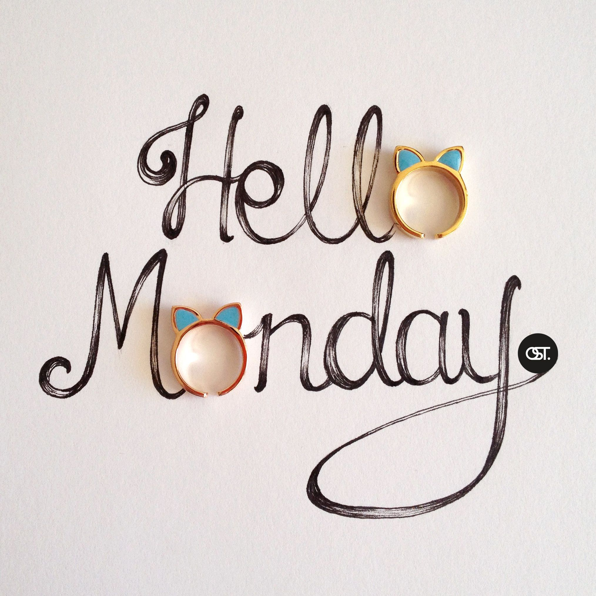 Hello wednesday pictures photos and images for facebook tumblr - Hello Monday Cat Rings Available