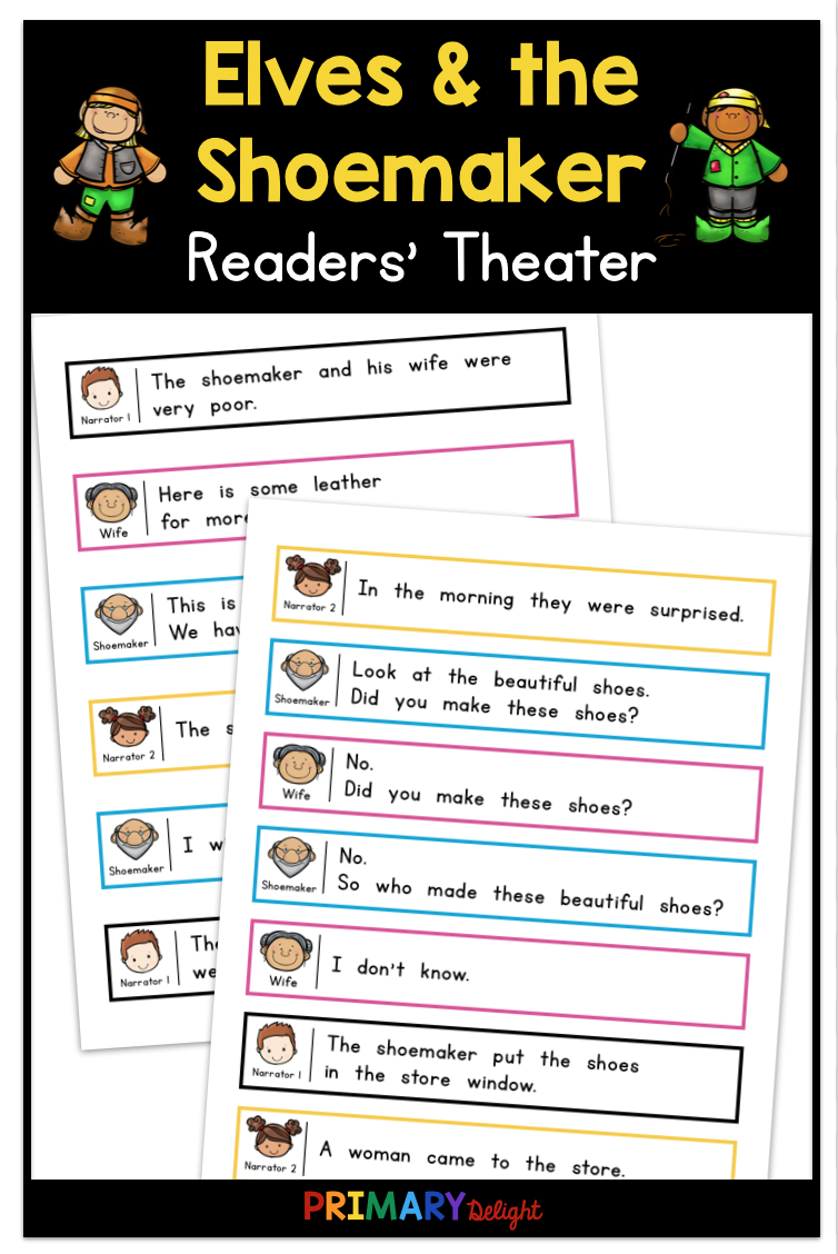 The Elves And The Shoemaker Makes A Fun Readers Theater Script For Beginning Readers The Color Coded Play Readers Theater First Grade Reading Classroom Plays [ 1128 x 754 Pixel ]