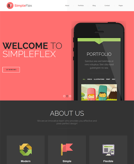 This one page Drupal template includes a responsive layout, a custom ...