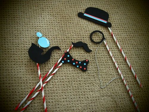 Love the pipe bow tie and manacle picture prop ideas