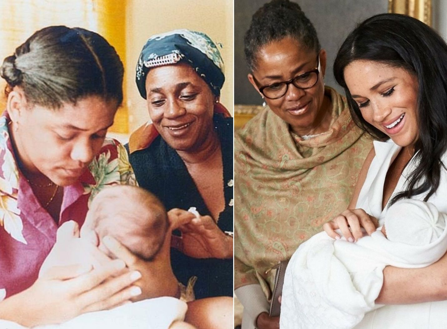 1981 Baby Meghan Markle Doria And Doria S Mom Jeanette 2019 Baby Archie Harrison Meghan Markle Prince Harry And Megan Harry And Meghan Princess Meghan