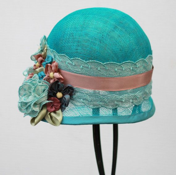 Womens Hats 1920s Gatsby Hat Summer Sinamay Straw By