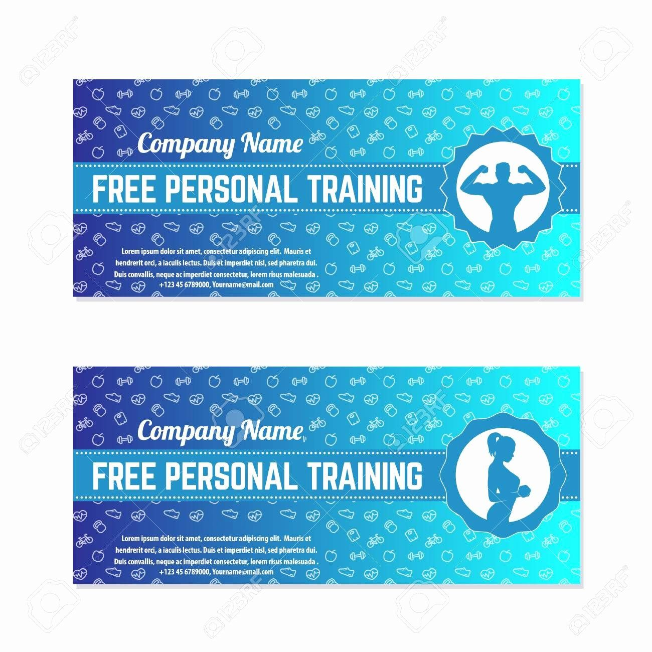 Gift Certificate Template Illustrator Free Beautiful Free Personal Training T Voucher For Gy Gift Certificate Template Gift Card Template Certificate Templates