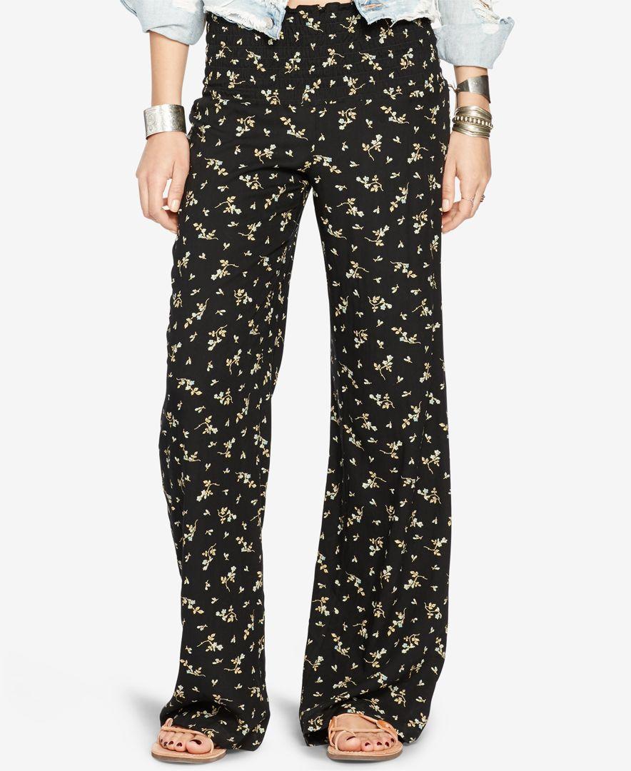 Denim & Supply Ralph Lauren Floral-Print Wide-Leg Gauze Pants