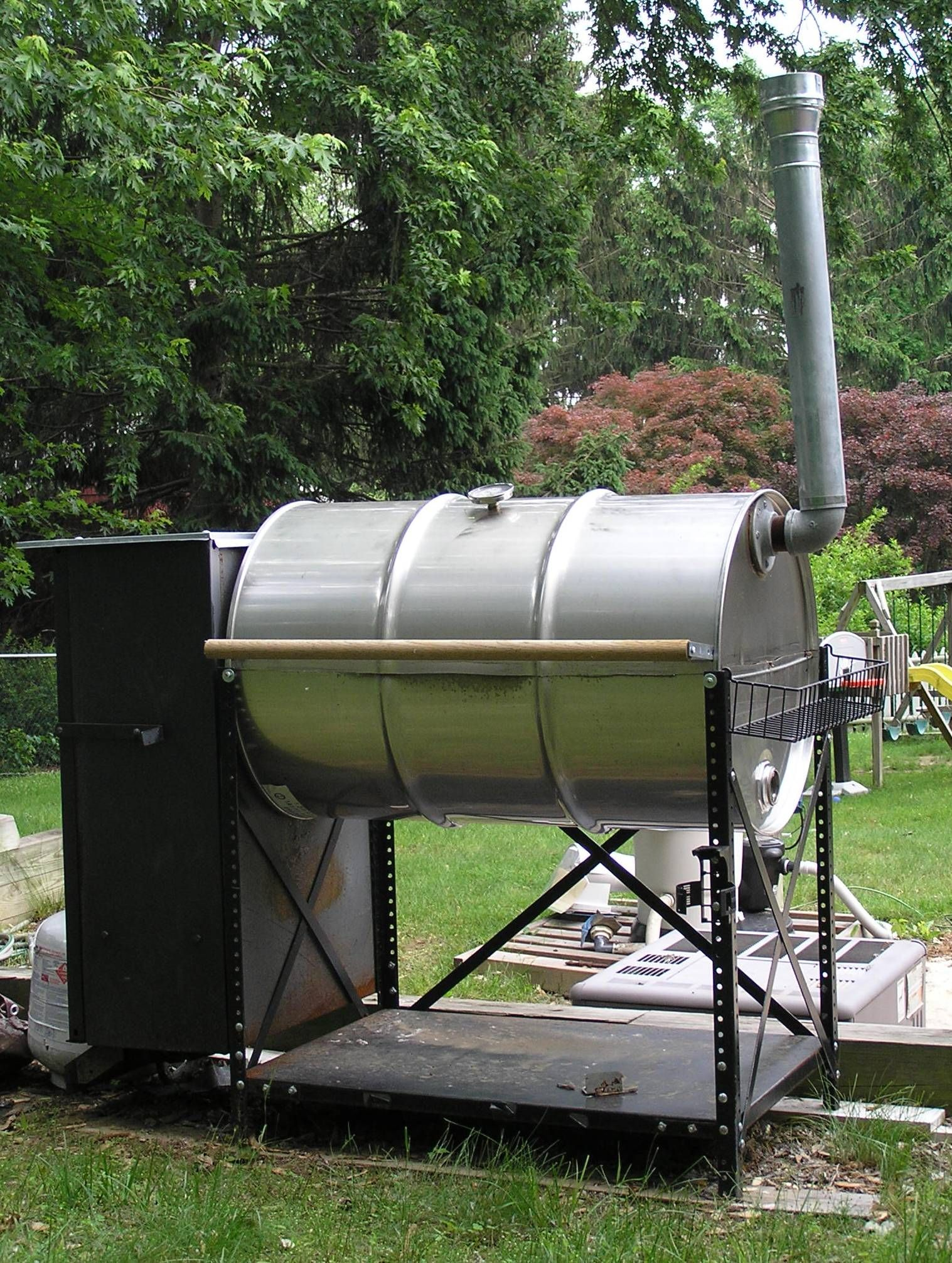 Double barrel smoker plans 55 gallon smoker grill plans
