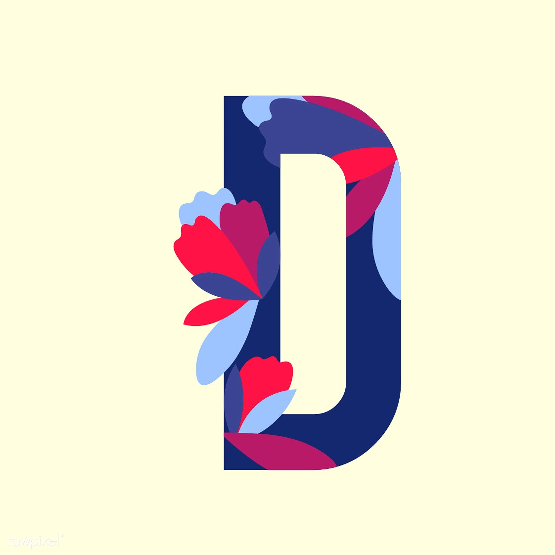 Floral Patterned Letters Vector Letter Vector Retro Vector Illustration Vector Free