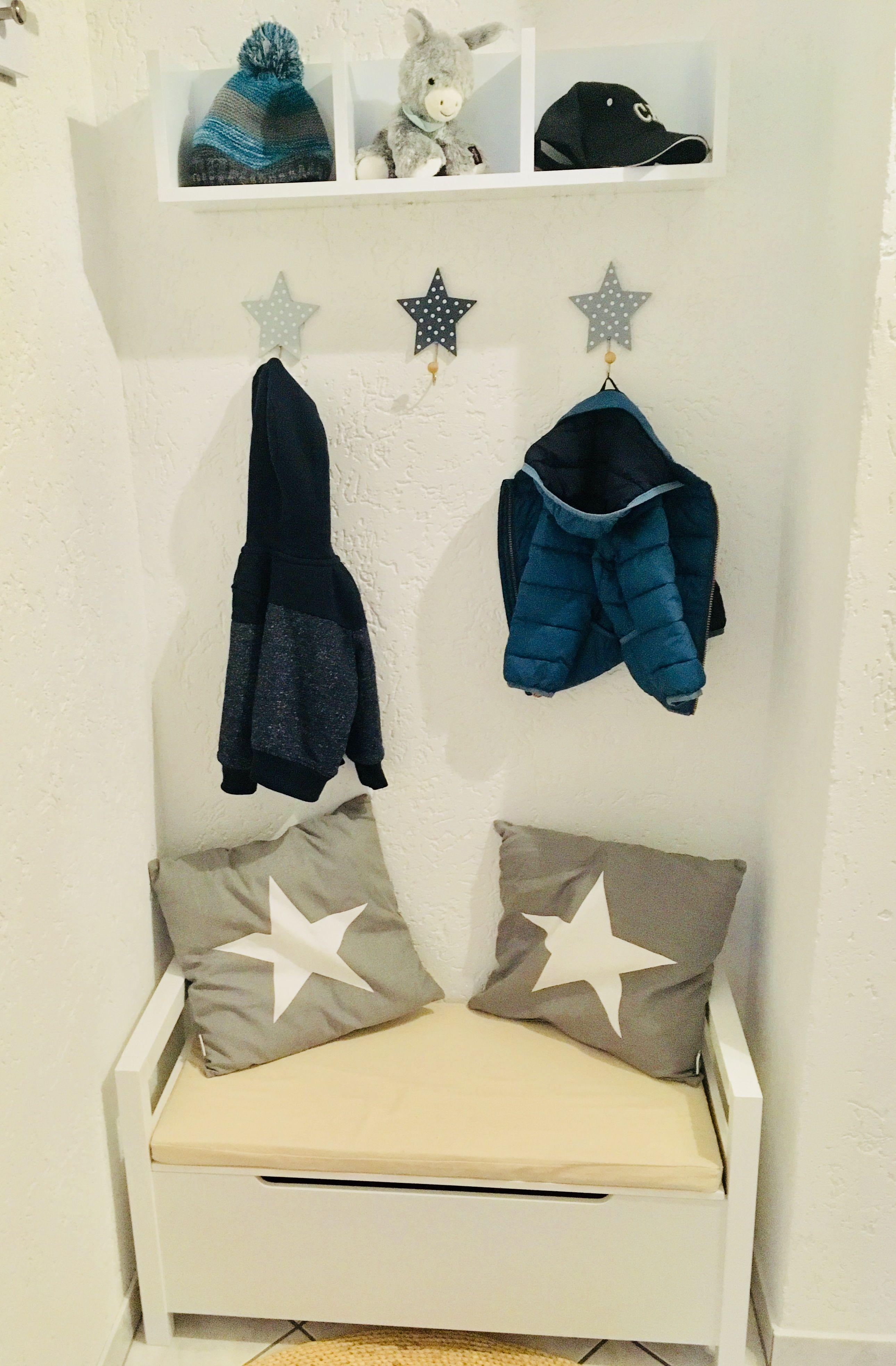 Garderobe Kinder DIY | Rund um Alex | Garderobe kinder, Garderobe ...
