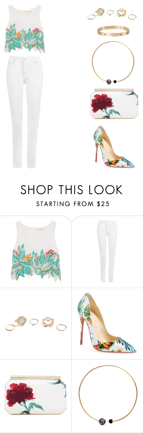 """""""the one that got away {katy perry}"""" by balsam01 ❤ liked on Polyvore featuring Mara Hoffman, WearAll, GUESS, Christian Louboutin, Oscar de la Renta, Artelier by Cristina Ramella and Cartier"""