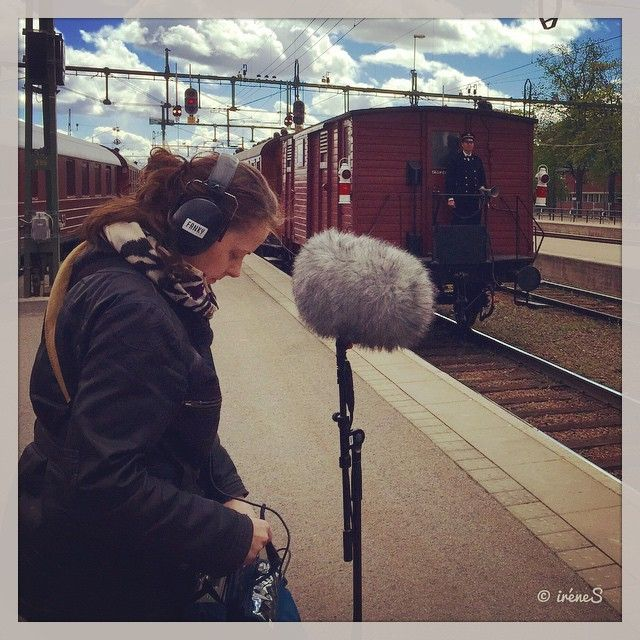 Yesterday, recording of steam locomotives between pouring rain. Me and my dead cat.🙌😄