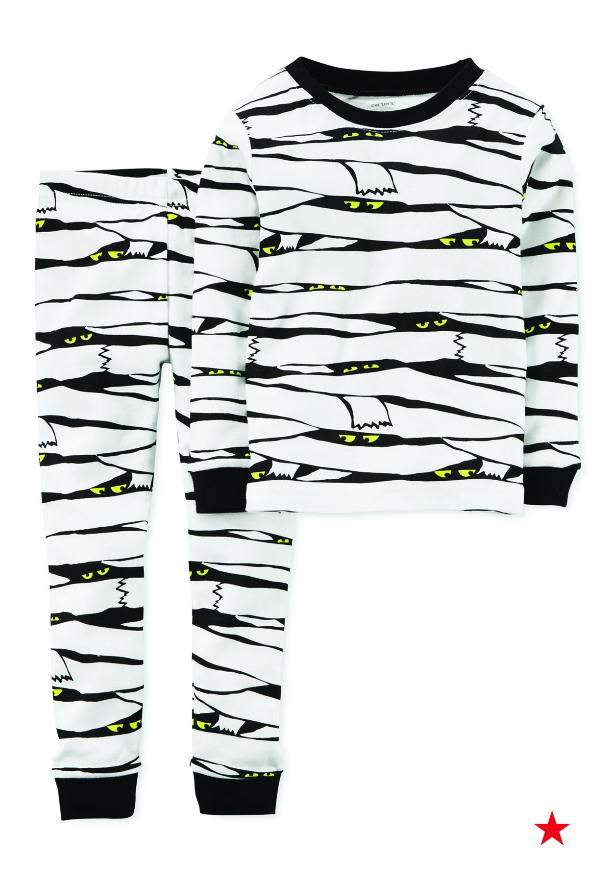 57d30f77 Hey, Mummy! We've found the perfect Halloween costume for your little guy.  Carter's mummy pajamas are a comfy and cool way to celebrate their favorite  ...
