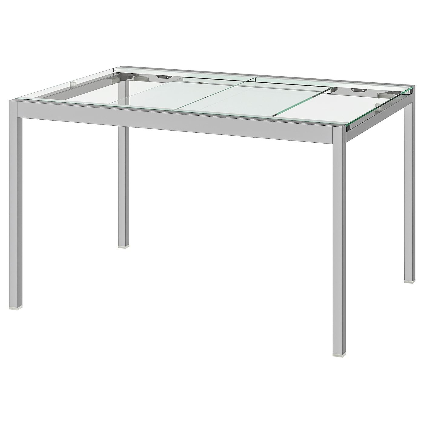 Glivarp Extendable Table Transparent Chrome Plated Ikea Extendable Glass Dining Table Glass Table Glass Top Table