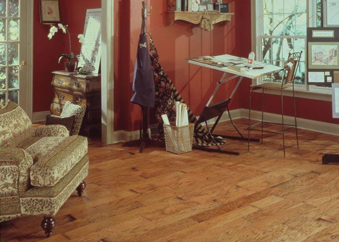 Random Length Plank Distressed Hickory Flooring By Harris