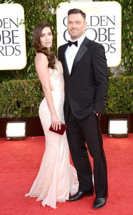 Megan Fox in Dolce & Gabbana, with hubby Brian Austin Green - Golden Globe Awards 2013 Red Carpet