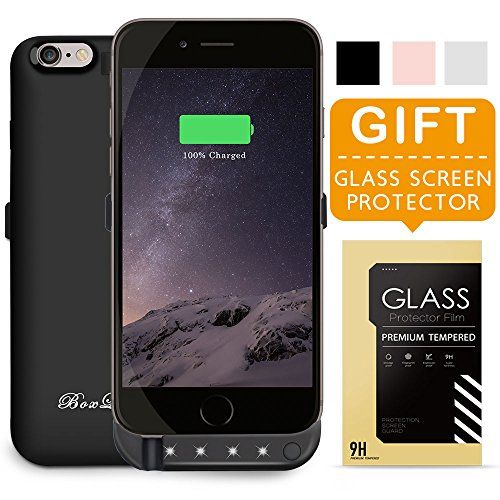 BoxLegend iPhone 6 Battery Case Polymer Battery Fast Recharge Rate  Black White Rose Gold battery Charger Charging Case Battery Pack Charger  Case for iphone ... 14e0d523c