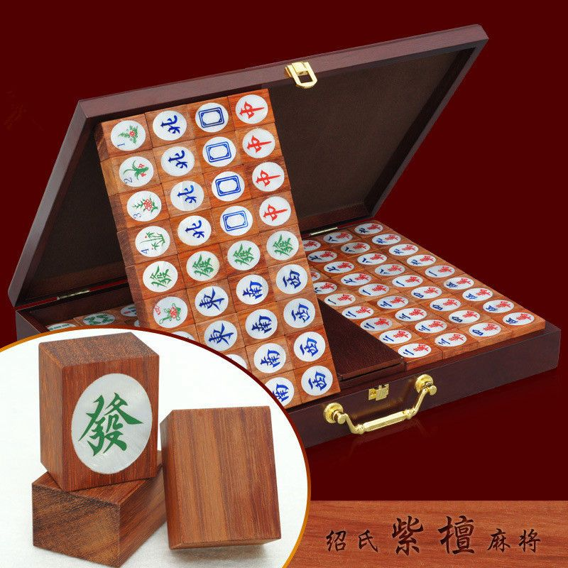 High Quality Great Gift For Friend Wooden Chinese Mahjong