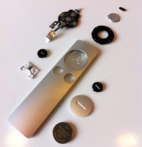 Disassembly Of The Apple Tv Remote Machined Out Of A Solid Piece Of Aluminium Apple Remote Apple Tv Tv Remote