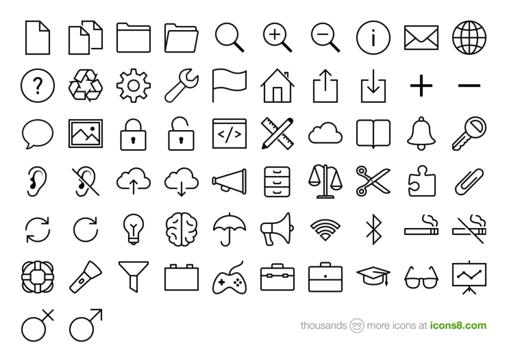 The world largest original set of free icons for Windows8