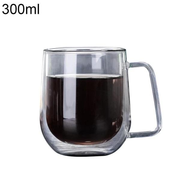 Double Wall Glass Cup Tea Coffee Mug Portable Transparent Glass Cup In 2021 Double Wall Glass Coffee Tea Glass Cup