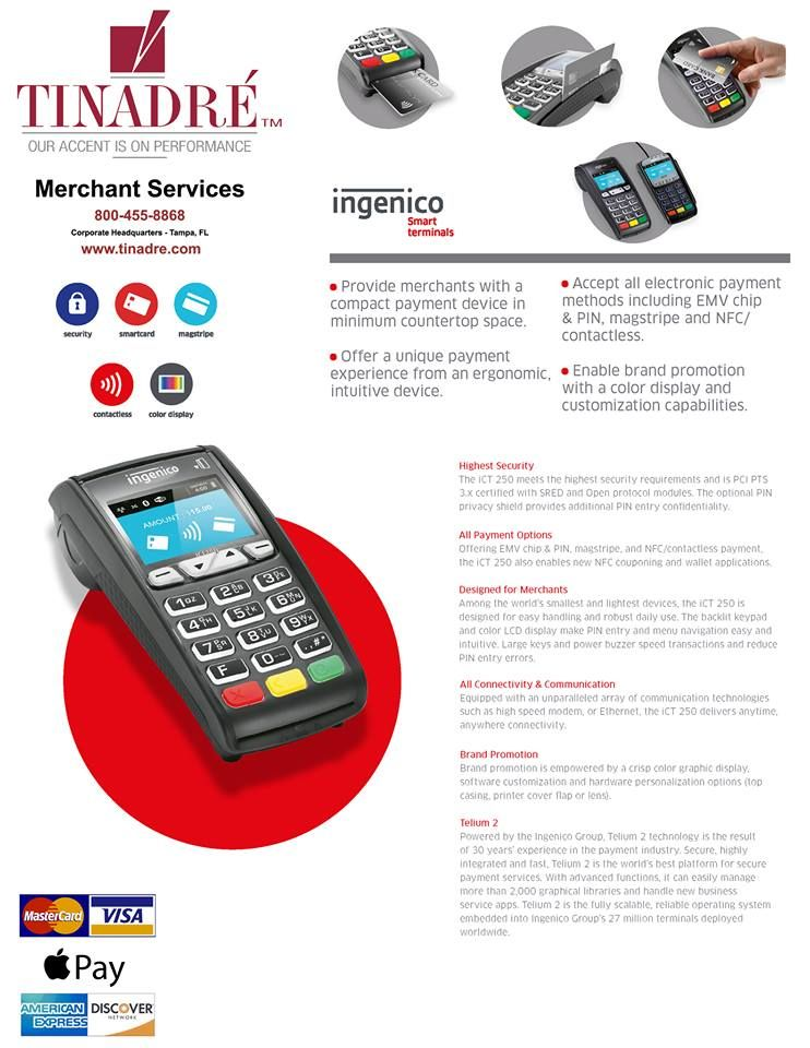 Tinadre Merchant Services, is a National Credit Card
