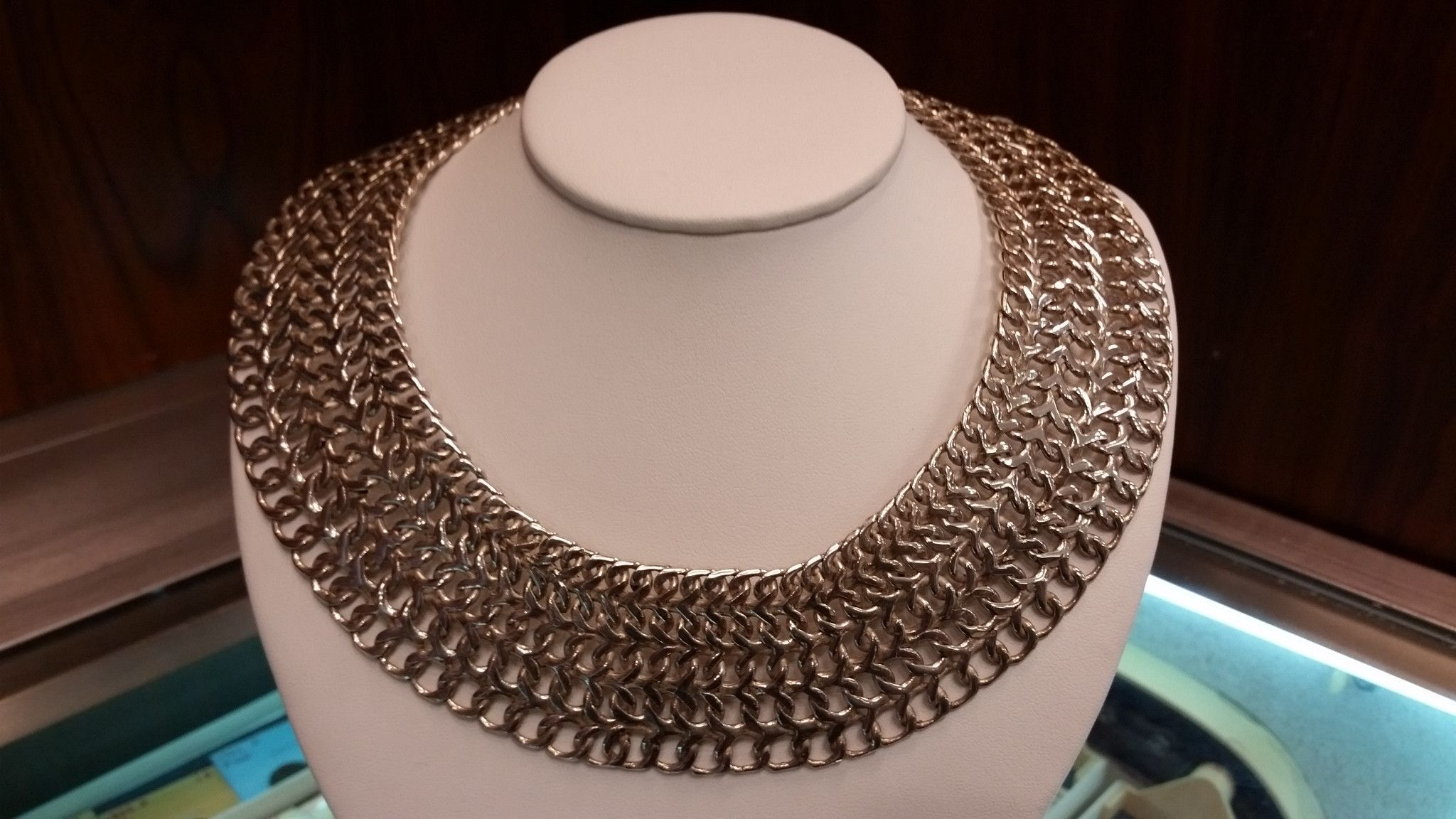 Sterling Silver Wide Woven Necklace