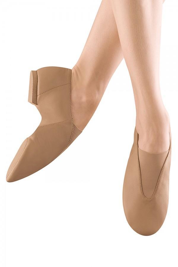 split sole laceless jazz shoe