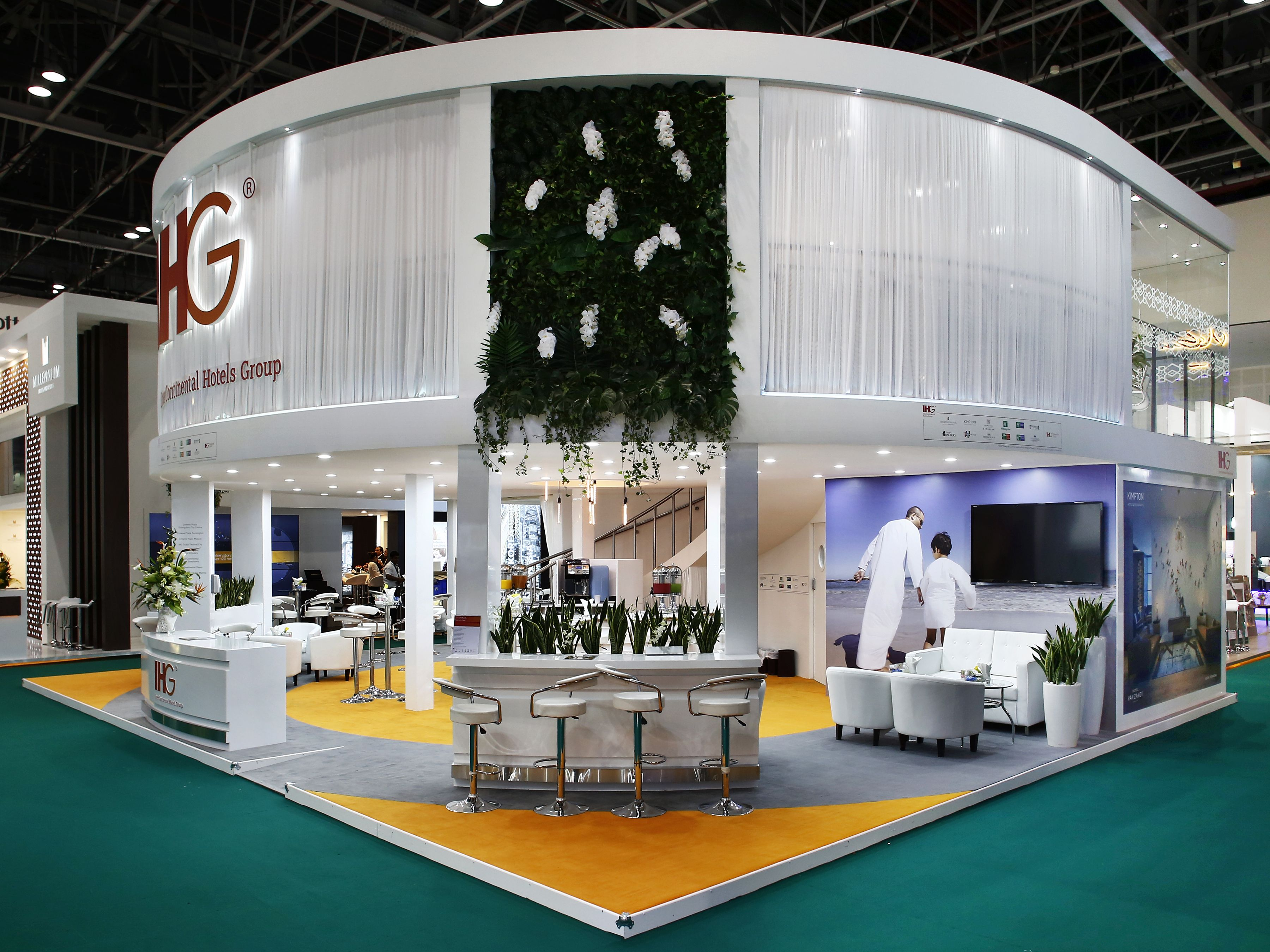 IHG Exhibition Stand Design by Elevations UK for ATM Dubai 2016