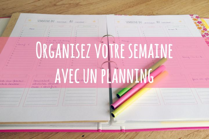 organiser sa semaine avec un planning imprimer organizations bullet and bujo. Black Bedroom Furniture Sets. Home Design Ideas