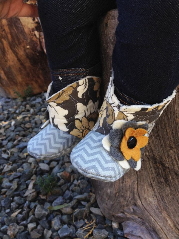 Baby Boots in Chevron Print Infant Boots Baby by AveryleeKids, $25.00