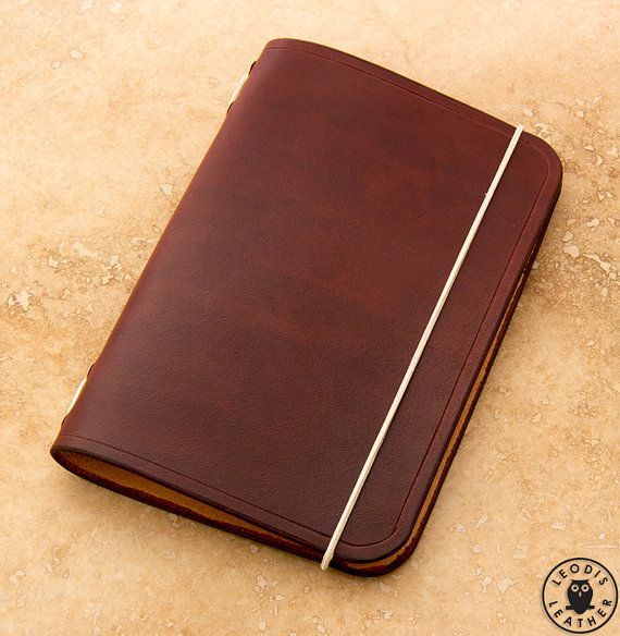 Leather Midori Passport Traveller's Notebook Cover (Mahogany)