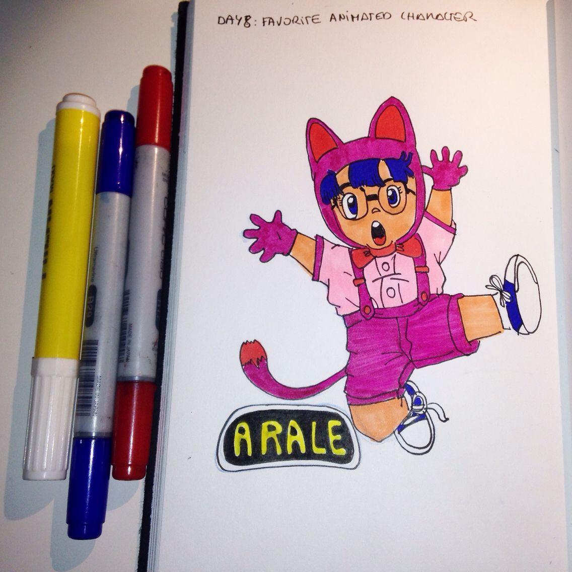 Jour 8: personnage animé préféré. Défi de dessin de 30 jours. Arale - #anime #arale #drawing #days #people