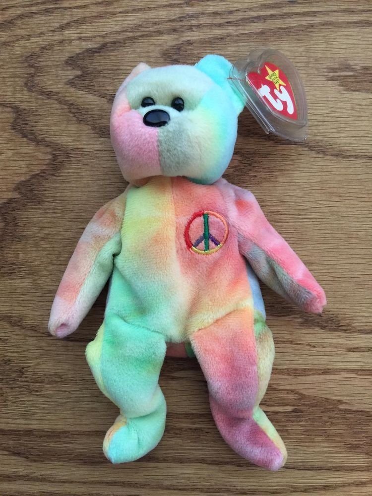 7291eb015b6 Rare Ty Beanie Baby Peace Bear Original Collectible with Tag Errors  Ty   1000