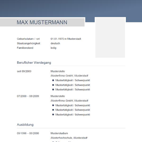 Vorlage / Muster: CV-Muster | Lebenslauf für Lina | Pinterest | Cv ...