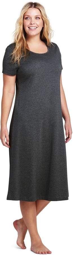 b7166a053 Lands' End Lands'end Women's Plus Size Women's Midcalf Supima Cotton  Nightgown #Size#Women#Lands